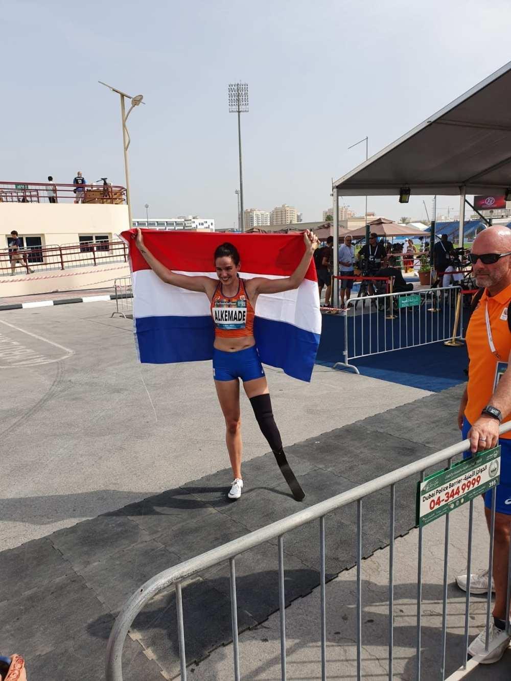 Nederlandse Vlag na 200 meter