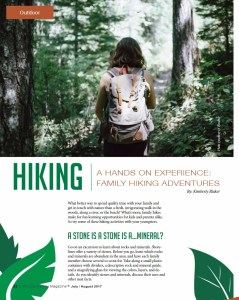 freelance parenting writer on family hiking adventures