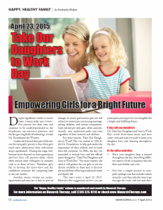 top take our daughters to work day ideas