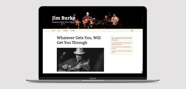 jimdburkemusic.com web design