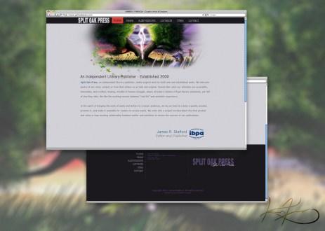 Custom artwork and simple and clean design for SplitOak Press.