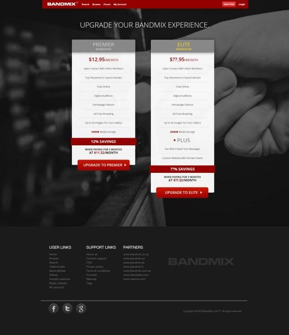 BandMix Upgrade responsive design.