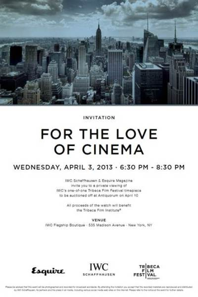 Tonight: For the Love of Cinema