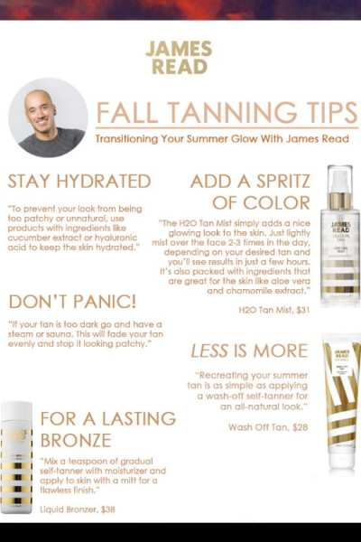 Fall Tanning Tips From James Read