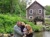 Ken and Susan and cousins, Savannah and Scarlett at the old Mill