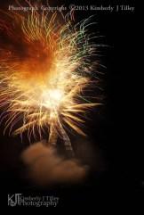 fireworks and smoke cloud