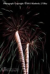 fireworks set off