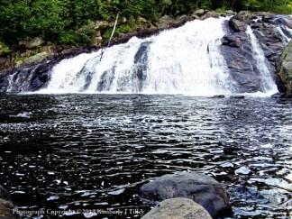 waterfall, river, rocks, stones, summer, landscape, trees, new hampshire, bristol, Kimberly J Tilley