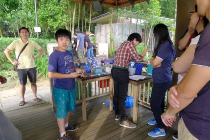 Ethan, Shu Sin's oldest, manning the gift table.