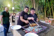 Grill masters: Chun Lok, Kishore, & Kelvin