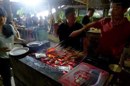 Pei Yi overseeing the grillin'