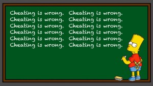 Cheating is wrong