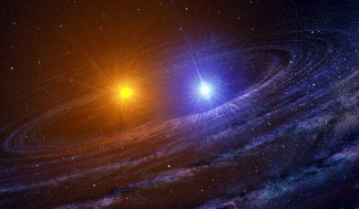 Binary stars (artist rendering Casey Reed, NASA)