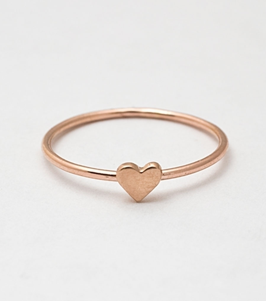 Catbird NYC Rose Gold Heart Ring A Bit Coquettish