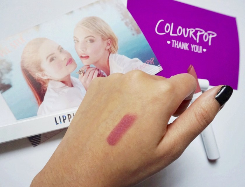 colourpop lippie stix kathleen lights lumiere swatch review kylie jenner matte lip