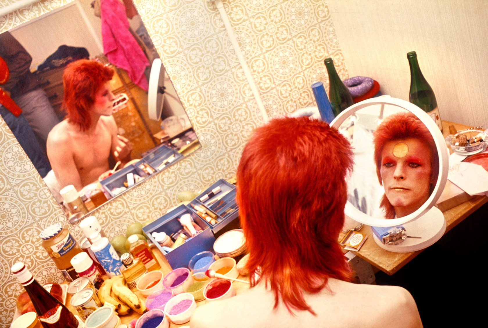 On David Bowie's Makeup Table
