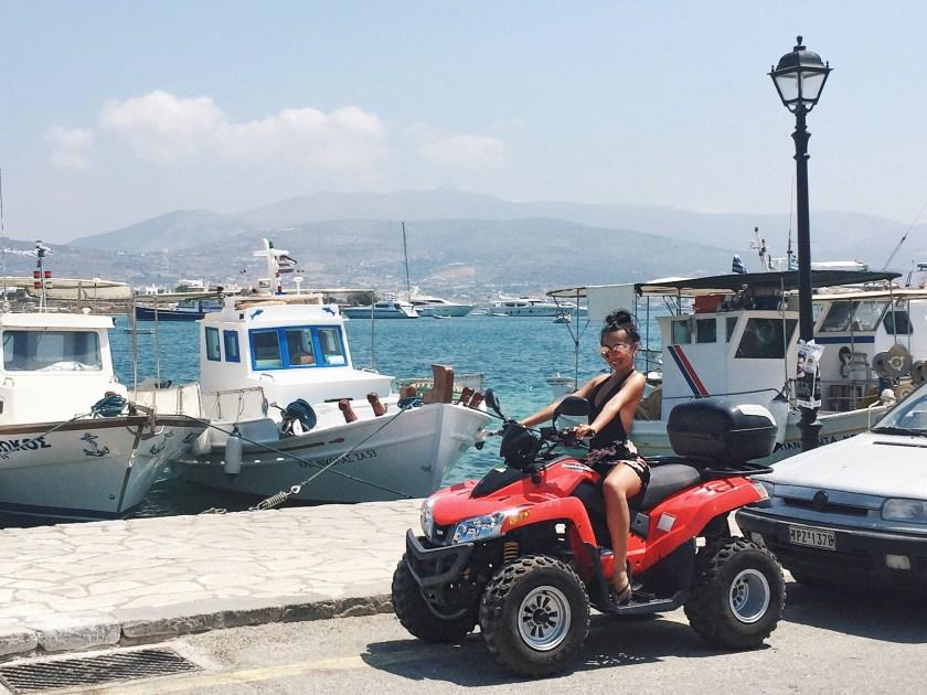 antiparos paros greece atv