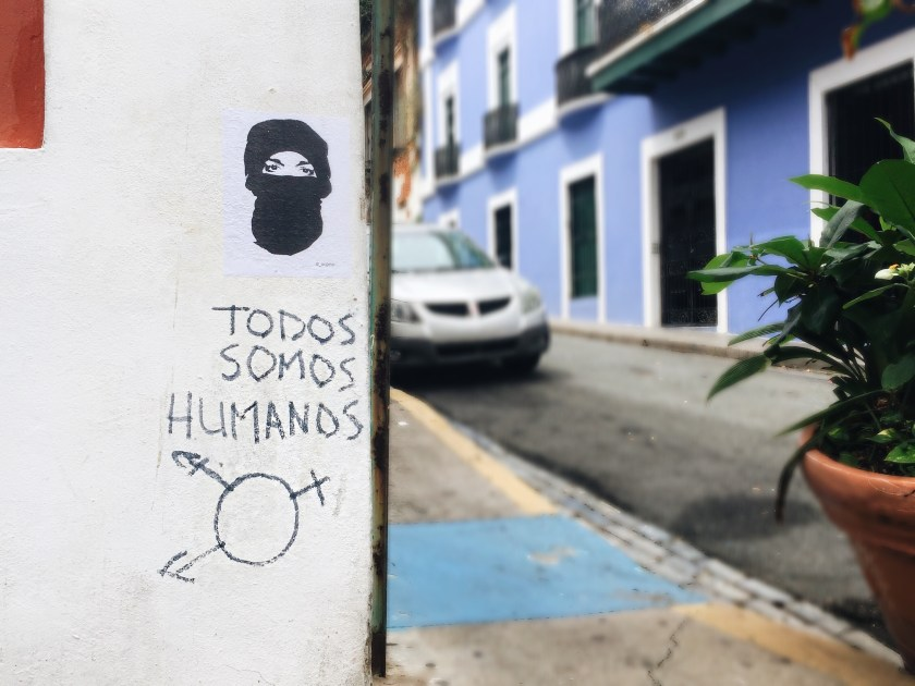 puerto rico old san juan we are all human womens march graffiti