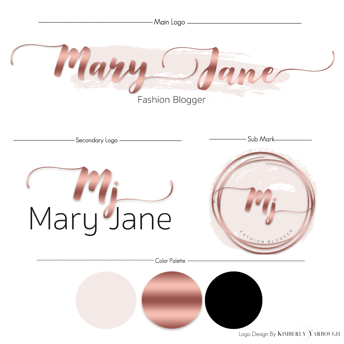 Mary Jane Logo A La Mode Design