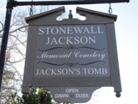"sign ""Stonewall Jackson Memorial Cemetery Jackson's Tomb"""