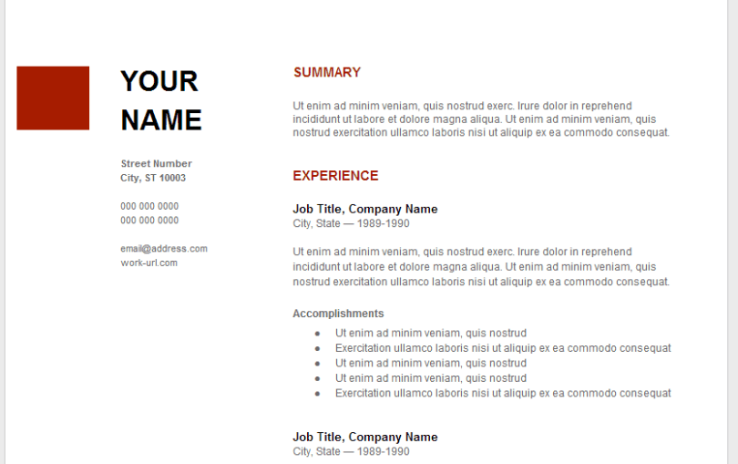 Google Resume Sample. Google Resume Examples Google Fiber Tools