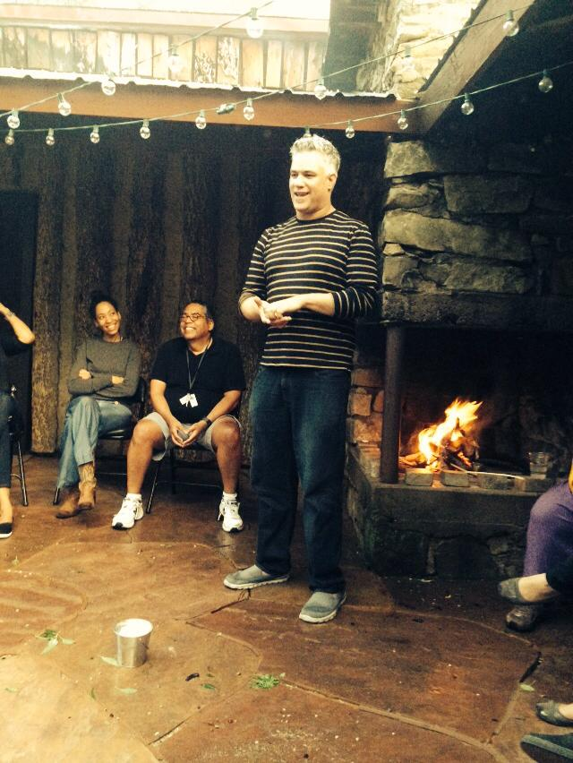 Mat Johnson Entertains at the Bonfire