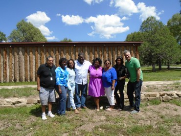 Workshop Group #2: l. to r. David Haynes, LaToya Watkins, Kecia Lynn, Andy Johnson, Kima Jones, Dahlma Llanos-Figueroa, ZZ Packer, Mat Johnson