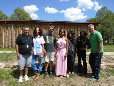 Workshop Group #3: l. to r. David Haynes, Adrienne Perry, Brian Gilmore, Monica West, Dianca Potts, ZZ Packer, Mat Johnson