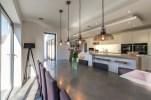 Modern open kitchen living dining