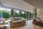 Sitting area with view of garden