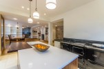 Open plan kitchen dining with aga