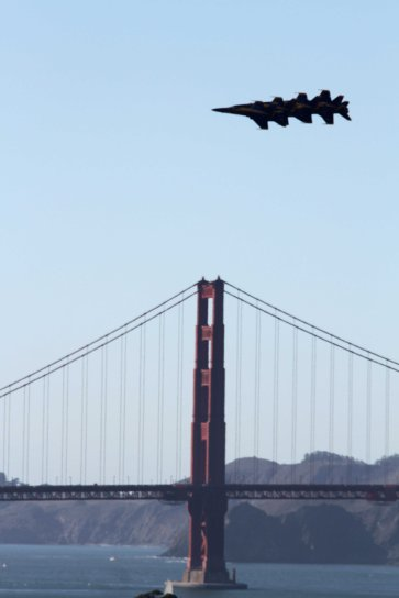 United States Navy Blue Angels over San Francisco Bay, 2015