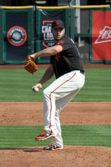 San Francisco Giants pitcher Clayton Blackburn