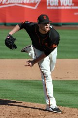 San Francisco Giants pitcher Steven Okert