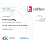 Berklee Intro To Music Business Certification - March 2019