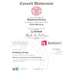 Cornell Digital Marketing Certification - January 2019