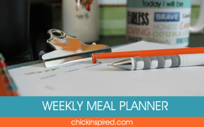 Weekly Meal Planning Organizer = Peace of Mind
