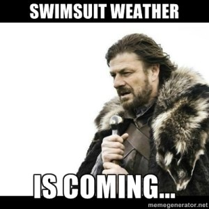 swimsuit weather is coming