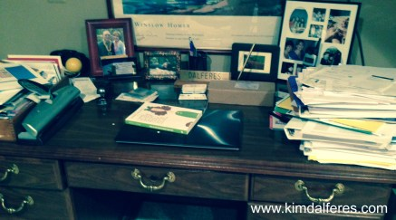 george desk with website