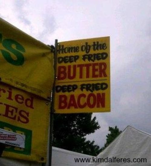 deep fried butter with text