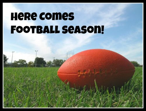 football with text