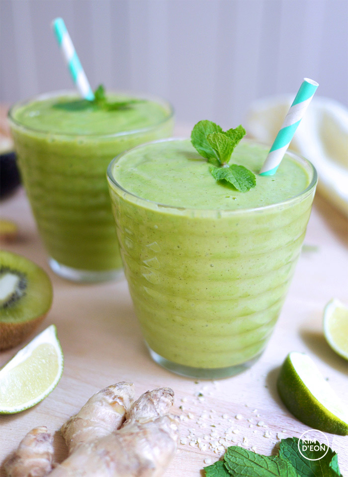 Green Smoothie Avocado Lime Zinger | Kim D'Eon