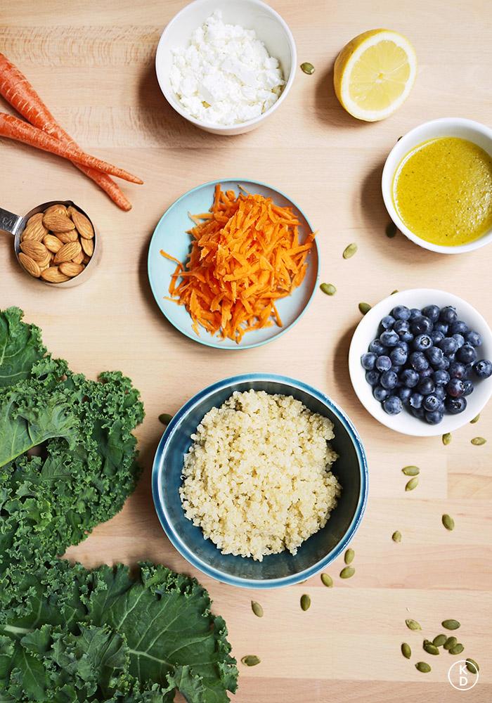Kale & Blueberry Quinoa Salad | Kim D'Eon, Holistic Nutritionist
