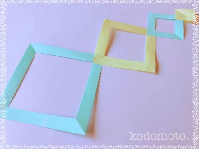 七夕飾りを折り紙で♪簡単で可愛い四角つなぎの作り方☆