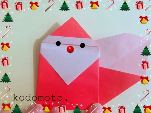 サンタクロースの折り紙☆折り方を簡単に分かりやすくご紹介!