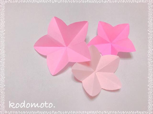 折り紙でひな祭りに飾る桃の花を簡単に作ろう☆折り方と切り方!