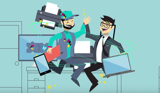 managed print explainer animation video