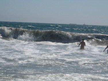Daan in de hoge golven
