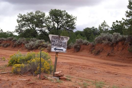 Dirt road naar Navajo NM