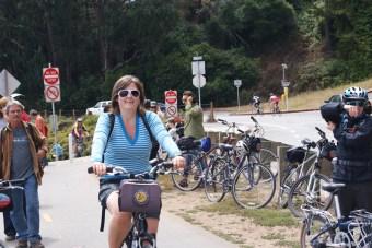 Kim op de fiets